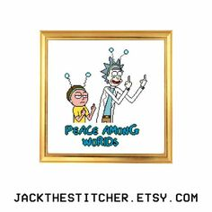 Rick and Morty Season 2 Episode 1 Peace Among Worlds Subversive Modern Cross Stitch Template Pattern Instant PDF Download by JackTheStitcher