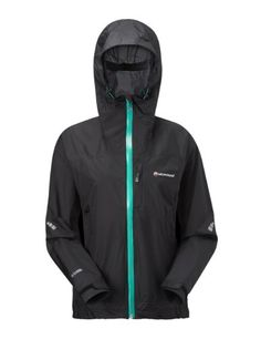 Montane Minimus Mountain Women's Waterproof Outdoor Jacket - Small - Blue, 7.4 oz