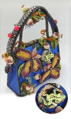 Jewelry Design - Purse with Seed Beads, Swarovski® Crystals and Fabric - Fire Mountain Gems and Beads