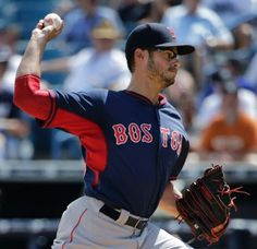 Boston Red Sox starting pitcher Joe Kelly (56) winds up in the second inning of a spring training exhibition baseball game against the New York Yankees in Tampa, Fla., Wednesday, March 11, 2015. (AP Photo/Kathy Willens) Boston Red Sox Team Photos - ESPN