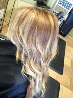 nice blonde and beige brown lowlights