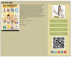 Free mobile App on the weekly live Internet TV program - Enjoy!  #Live TV #Beth Fiedler #Ask Beth QQQ