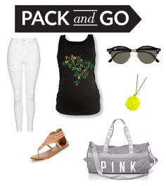 """""""Pack 🌴"""" by chimizmorales on Polyvore featuring moda, Topshop, Ray-Ban y Malababa"""