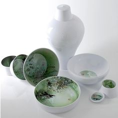 Ibride vase ming blanc