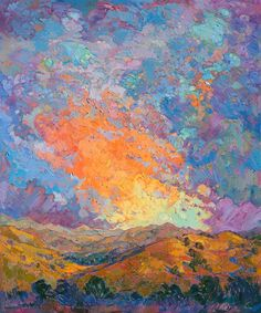 Artist Erin Hanson is the pioneer of the energetic painting style open-Impressionism.