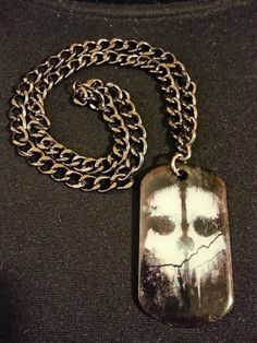 Call of Duty: Ghosts Necklace. For Sale: $16 handmade. Only one available. Contact original poster Dark Corners