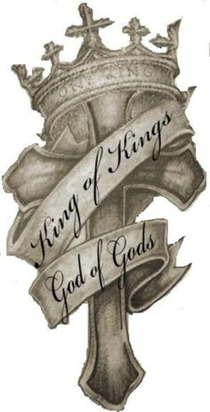 King God Cross Crown Tattoo Design | Tattoobite.com