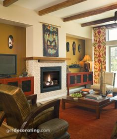 Fireplace & Fireplace Mantel Photos / Pictures, Decorating, Design & Decor Ideas for Fireplaces, Hearths, Mantels in the Home / House Warm Paint Colors, Fireplace Mantels, Fireplaces, Home Entertainment Centers, Interior Decorating, Interior Design, Electric Fireplace, Home Projects, Sweet Home