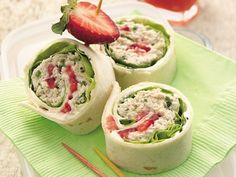chicken salad roll-ups...