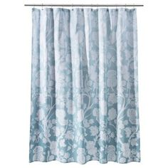 Target Blue Ombre Floral Shower Curtain