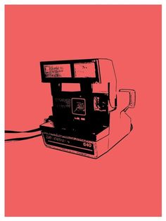 Coral Polaroid Print