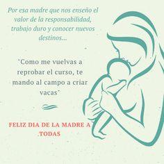 """En este dia tan especial 👏👏, queremos saludar a todas las mamas del mundo y que gocen de un lindo dia 😘, tambien queremos dejar una frase que nos hace pensar en lo importante que son en nuestras vidas que es:  👉 """"Para el mundo eres una madre, pero para tu familia eres el mundo"""".  Y algo de humor tambien.... jajaja  😅 Feliz dia de la madre ❤❤❤"""