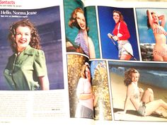 1946: magazine article photos of Marilyn Monroe .... #normajeane #vintagemagazine #pinup #iconic #raremagazine #magazinecover #hollywoodactress #monroe #marilyn #1940s