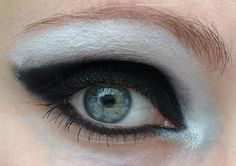 Black and white, makeup look #beauty #EOTD