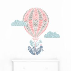 Hot Air Balloon Fabric Wall Decal - Mej Mej by ShopMejMej on Etsy https://www.etsy.com/listing/269883415/hot-air-balloon-fabric-wall-decal-mej