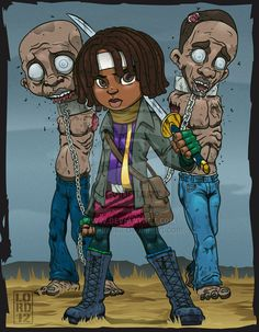 Lil Michonne and the Boys by lordmesa