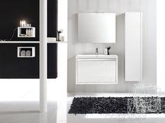 Clever Vanity #smallvanity #bathroomvanity #colors #wallhungvanity #bathroomdesign