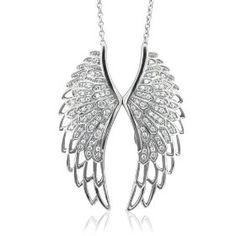 cadena con alas de ángel