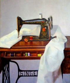 Viktor Tapok: Sewing machine in the painting ...