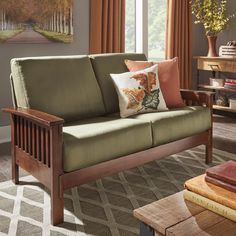 Three Posts Winnifred Mission Loveseat with Cushions Upholstery: Sofa Furniture, Rustic Furniture, Modern Furniture, Antique Furniture, Cheap Furniture, Discount Furniture, Furniture Removal, Office Furniture, Furniture Ideas