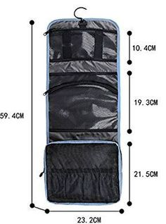 8 Brilliant Makeup Organizer Ideas BAGSMART Folding Hanging Toiletry Bag Roll up Makeup Organizer Cosmetic Bag Portable Travel Kit Organizer Household Storage Pack Bathroom Storage with handles steel Hook for Business Vacation Holiday Diy Bag Organiser, Makeup Organization, Storage Organization, Hanging Makeup Organizer, Hanging Cosmetic Bag, Camping Diy, Travel Kits, Travel Bag, Travel Packing