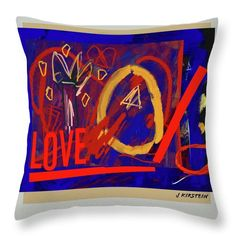 "Love Throw Pillow for Sale by Janis Kirstein  ||  Love Throw Pillow by Janis Kirstein.  Our throw pillows are made from 100% spun polyester poplin fabric and add a stylish statement to any room.  Pillows are available in sizes from 14"" x 14"" up to 26"" x 26"".  Each pillow is printed on both sides (same image) and includes a concealed zipper and removable insert (if selected) for easy cleaning…"