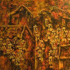 Crowded Market by Chau Ngan Cuong