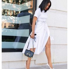 All white outfit: Photo shared by Stella Adewunmi on June 11, 2019 tagging @renttherunway, @31philliplim, and @prada. Image may contain: one or more people and people standing. #Regram via @BynCUoLH_IH
