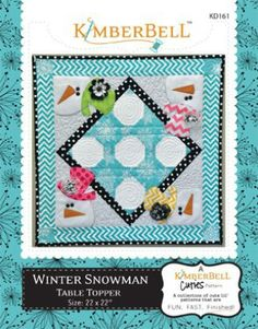 Winter Snowman Table Topper | Quilting Pattern | YouCanMakeThis.com