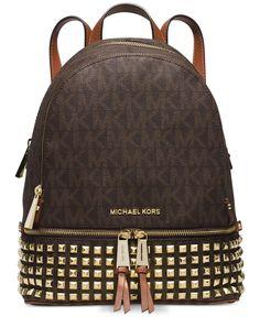 6d7937d2ff69 MICHAEL Michael Kors Rhea Zip Small Studded Backpack Handbags   Accessories  - Macy s