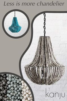 The Less is More Chandelier is our most minimal clay beaded chandelier, for those who prefer modern pendant lighting and clean lines. Each clay bead is hand rolled, kiln fired, then dip dyed before being individually strung onto a wrought iron frame and available in a range of colors, including our signature ombre. Handmade in Africa by a beautiful community in Kwazulu Natal #africandecor Unique Lighting, Pendant Lighting, Kwazulu Natal, Beaded Chandelier, Hand Roll, Less Is More, Dip Dye, Clay Beads, Interior Lighting