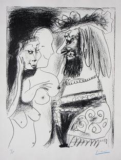 PabloPicasso | Le Vieux Roi (Signed) | Denis Bloch Fine Art http://www.printed-editions.com/artwork/pablo-picasso-le-vieux-roi-signed-22697