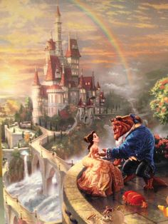 """""""Beauty and the Beast"""" ~Here's easily number 3 or 4 on my ' favorest ' list;beautiful story ,beautiful music,It is such an emotional watch from beginning to end-if it weren't for the fact that it's an animated movie,you'd think the characters were alive .Disney's Finest~"""