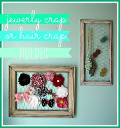 jewelry/hairbow holder | A girl and a glue gun