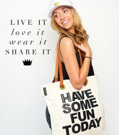 News   HSFT - Shop the Luxe Tote - $150  www.havesomefuntoday.com