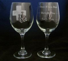 Veterinarian Vet Good Day Bad Day Wine Glasses Christmas gifts, Vet gifts, Veterinarian birthday gifts