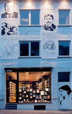"""ptyx bookshop, Lesbroussart 39, Ixelles, near Brussels """"une librairie férocement indépendante"""""""