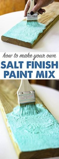 SALT PAINT RECIPE – How to make your own sea & sun washed paint. I can't believe… Sponsored Sponsored SALT PAINT RECIPE – How to make your own sea & sun washed paint. I can't believe how adorable this sign… Continue Reading → Do It Yourself Furniture, Do It Yourself Home, Wood Crafts, Diy And Crafts, Arts And Crafts, Felt Crafts, Diy Wood, Diy Projects To Try, Craft Projects