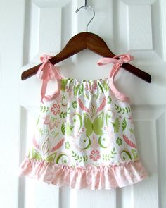Butterfly Damask top by sproutingjubejube on Etsy, $30.00