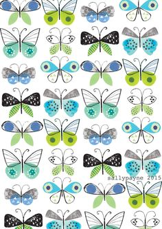 butterfly repeat by Sally Payne
