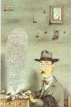 Fernando Pessoa ritratto da Tullio Pericoli