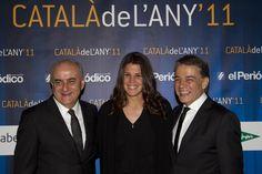 Los tres finalistas del premio: Josep Brugada, Laia Sanz y Joaquim María Puyal / CARLOS MONTAÑÉS