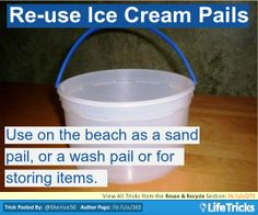 Reuse & Recycle - Re-Use Ice Cream Pails