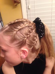 Dancing hairstyles dancers braids 35 ideas for 2019 # cute Braids for dance # cute Braids for dance Braided Hairstyles For School, Dance Hairstyles, Little Girl Hairstyles, Easy Hairstyles, Gymnastics Hairstyles, Competition Hair, Pinterest Hair, I Love Makeup, Long Hair Styles