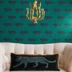 Panther Peel & Stick Removable Wallpaper Bluff Green - Opalhouse™ : Target