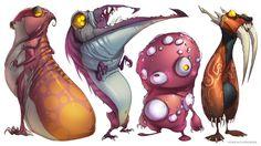 Character Design. CreatureBox, Aliens, Far Suburbia