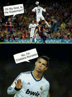 No I'm Cristiano Ronaldo...