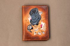 Leather cover for car fails or passports skull by ArtemFoxLeather on Etsy