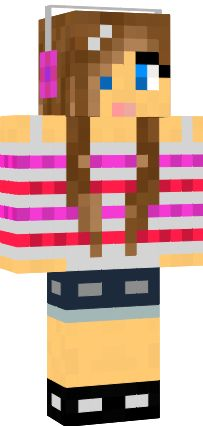 minecraft girl I love her headphones shirt with sorts and shoes i like her skin too