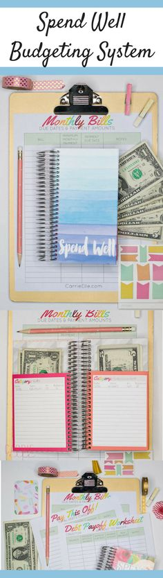 Money Budget and Bill Planner with Dave Ramsey Style Cash Envelope ...